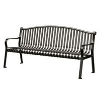 6' Black Metal Arched Back Bench